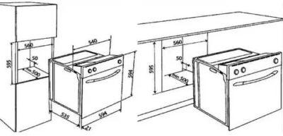как установить духовой шкаф электрический встраиваемый