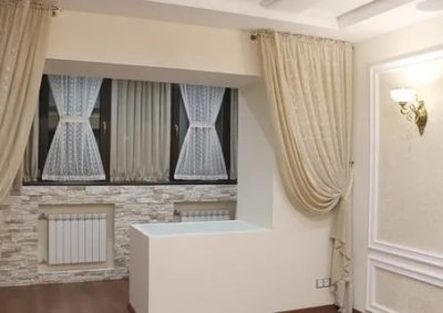 шторы где есть балкон