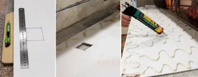 как приклеить фартук на кухне из пластика