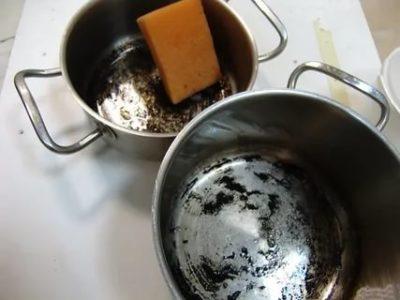 как отчистить пригоревшее дно у кастрюли