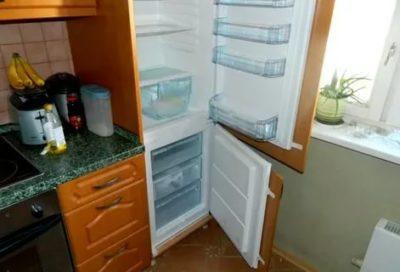 как встраивают холодильник в кухонный гарнитур
