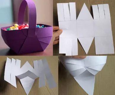 как сделать корзинку из бумаги