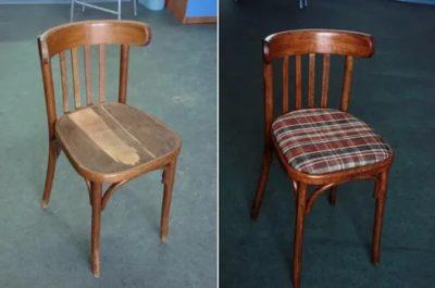 как отреставрировать старый стул
