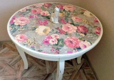 как отреставрировать старый стол