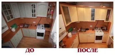 как поменять фасад кухни