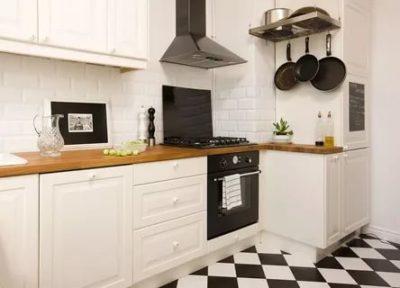 как обыграть угол на кухне