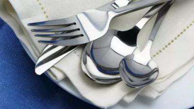 как почистить столовые приборы