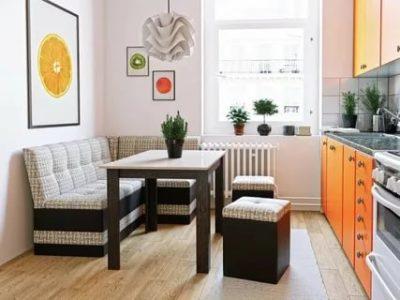 как поставить диван на кухне