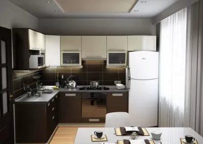 как обустроить кухню 6 кв м